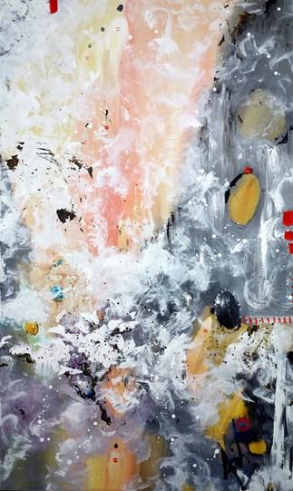 Travelling Light by Danielle O'Connor Akiyama - Glazed Original Painting on Box Canvas